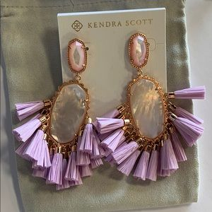 Cristina earring rose gold lilac mother of pearl